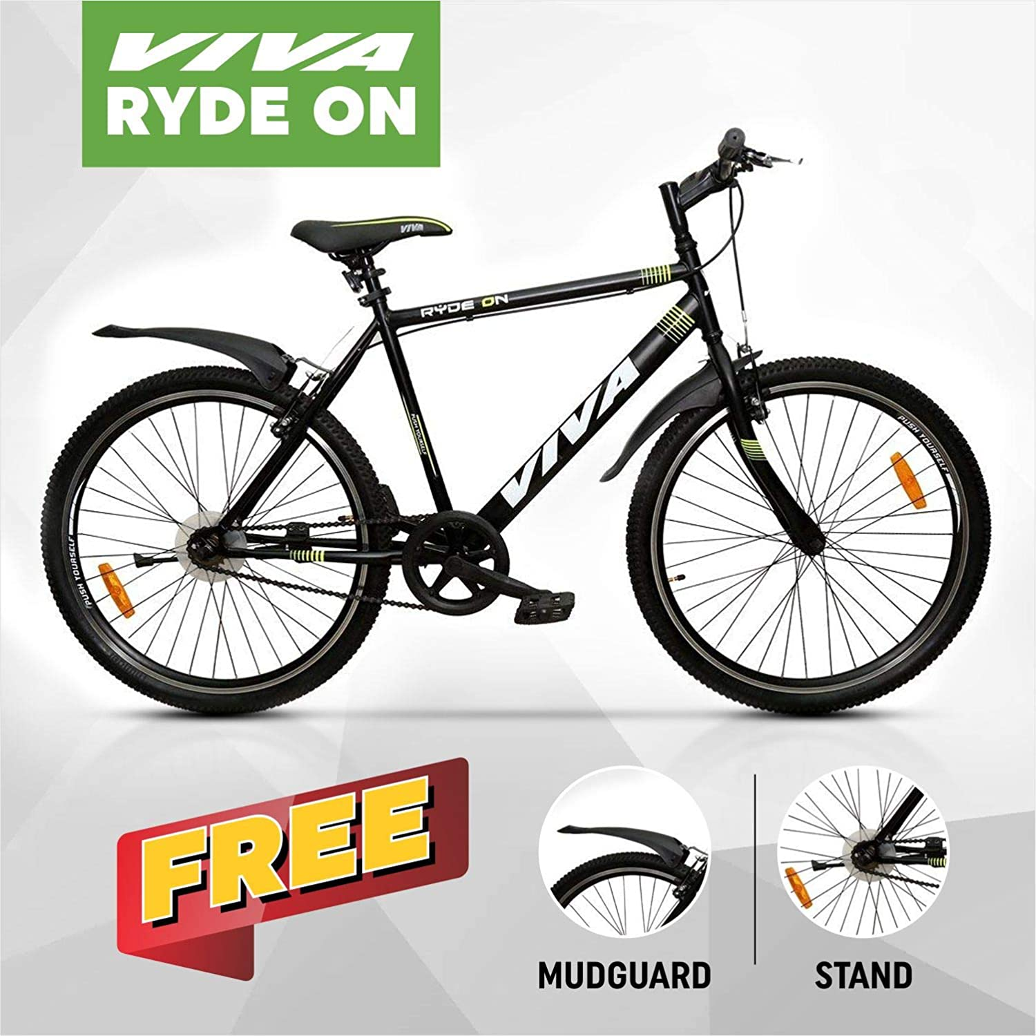 e048a7d2f61 Viva Ryde On 26T Single Speed Cycle (with free mudgaurd & stand):  Amazon.in: Sports, Fitness & Outdoors