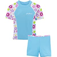 SunBusters Girls Fitted Swim Set 12 mos-12 yrs, UPF 50+ Sun Protection