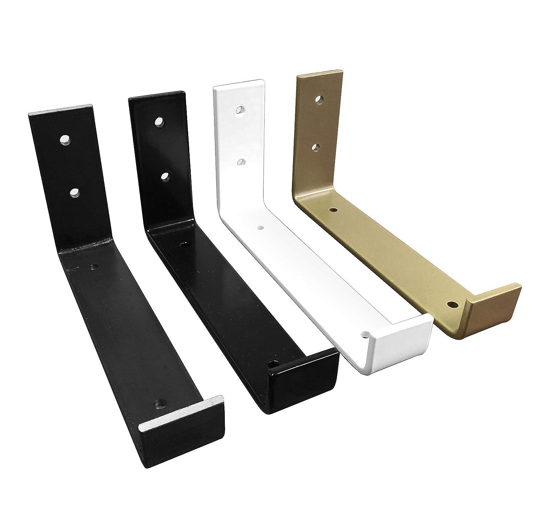 Color Hook Shelf Brackets White Modern Shelf Brass Powder Coat Shelve Brackets Industrial Shelf Bracket 2 Pack Gold Black