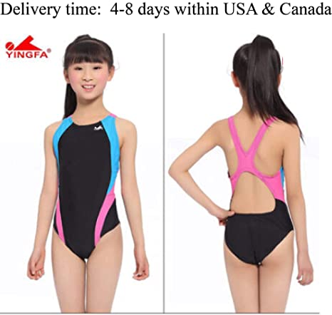 5296fc1d657 Image Unavailable. Image not available for. Color: YingFa One Piece  Training Swimsuit for Girls -Training and Racing ...