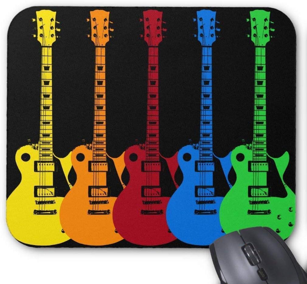 Alfombrilla Cinco Guitarras Eléctricas 18 x 22 cm