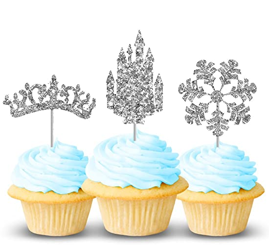 Amazoncom Frozen cupcake toppers 12 ct Crown castle and