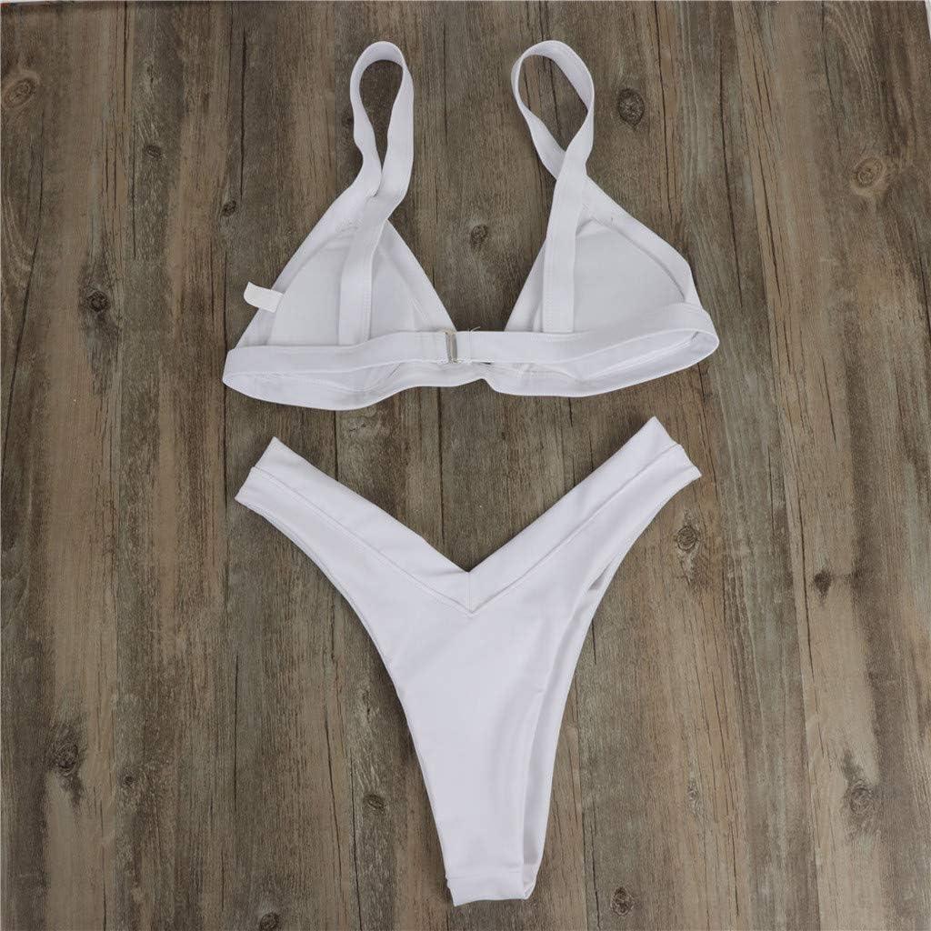 Jieson Women Thong Bikini Set Swimwear Beachwear Swimsuit Bathing Suit