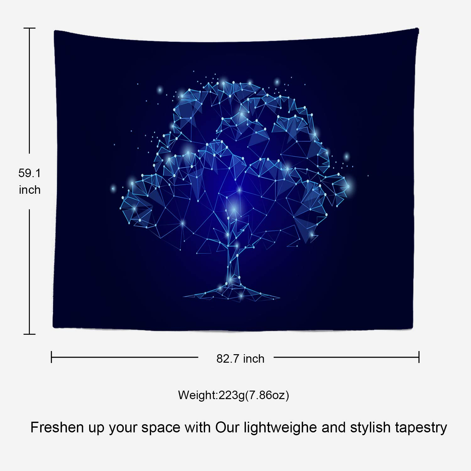 Shrahala Space Tapestry Space Pattern Science Stars in Galaxy Wall Hanging Large Tapestry Psychedelic Tapestry Decorations Bedroom Living Room Dorm 39.4 x 59.1 Inches, Black 1
