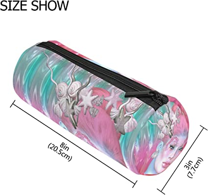 TIZORAX - Estuche de sirena para decorar el pelo, bolígrafo con cremallera, monedero organizador de maquillaje, cosméticos, para mujeres, adolescentes, niñas, niños y niños: Amazon.es: Oficina y papelería