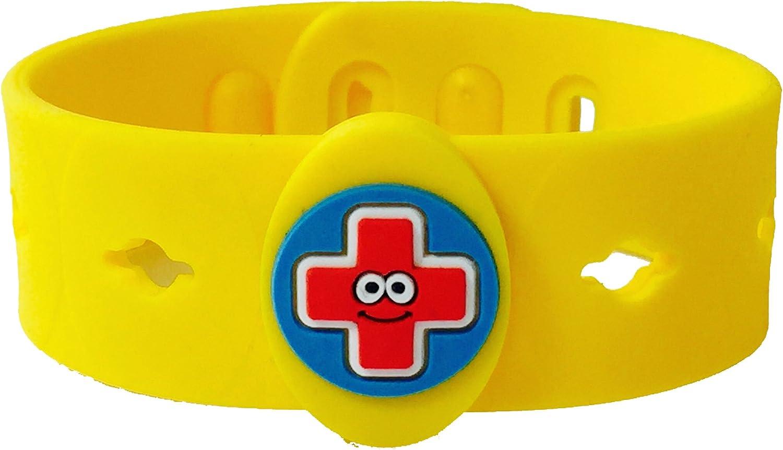AllerMates Food Allergy Kids Medical Charm Wristband - Children's Medic Alert Awareness Bracelet - Band Only