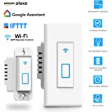 Smart Switch Works with Alexa In Wall Light Switch Mobile Phone APP Remote Alexa Control Sensitive Touch Wireless Wall Switch (Arvin Smart Light Switch)