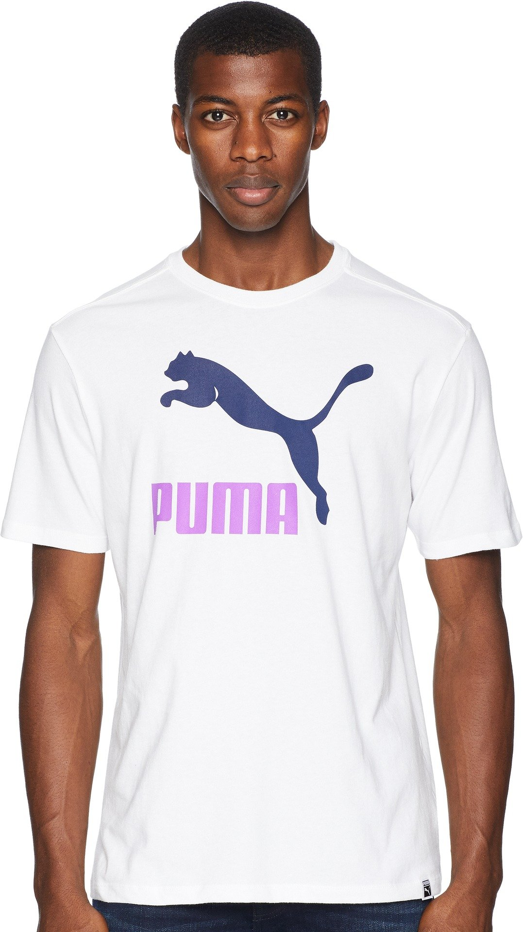 PUMA Men's Archive Life T-Shirt, White/Peacoat, S