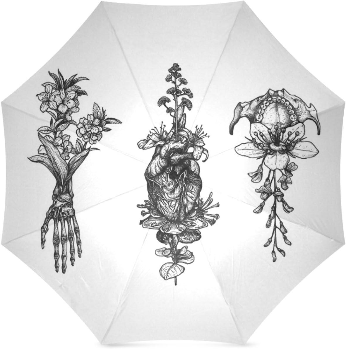 Personalized In Bloom Herbarium Foldable Umbrella Travel Umbrella