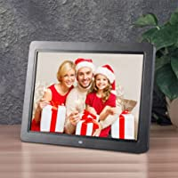 Digital Picture Frame, 12 Inch HD 1280 * 800 TFT LED Wide Screen Multifunctional Photo Video Frame With Wireless Remote View Pictures/Music/Video Support MS/SD/MMC/USB Port Built in stereo speakers