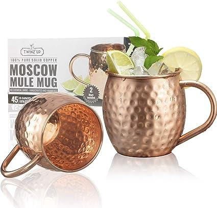 4er Moscow Mule Becher Kupferbecher Gehämmert und Handgefertigt Kupfertassen