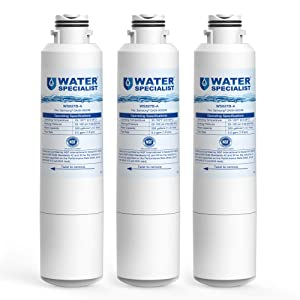 Waterspecialist NSF 53&42 Certified DA29-00020B Refrigerator Water Filter, Replacement for Samsung HAF-CIN, HAF-CIN/EXP, DA29-00020A/B, DA97-08006A, DA2900020B, RF28HMEDBSR, RF4287HARS (Pack of 3)