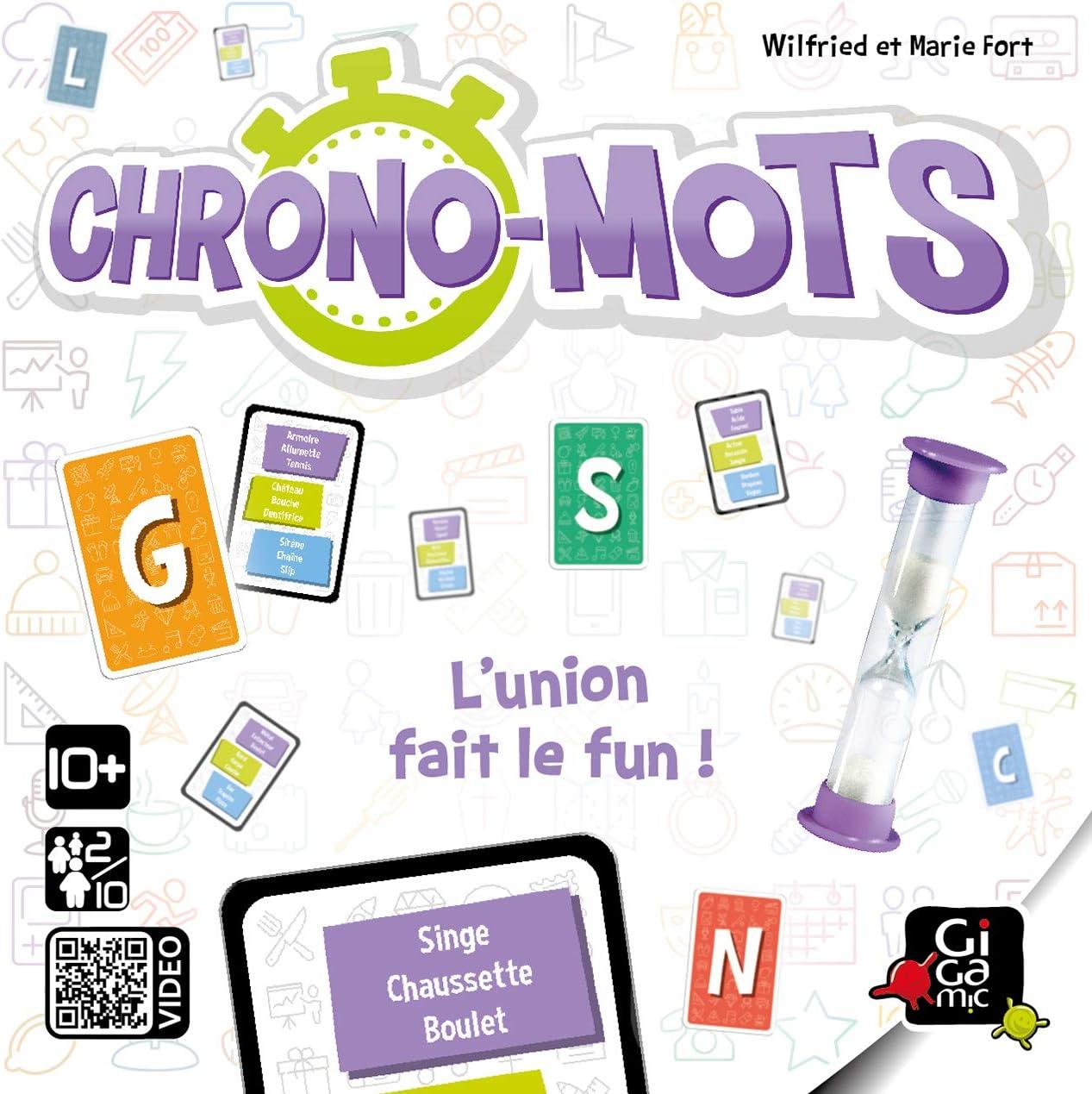 GIGAMIC – Juego de Cartas (Chrono-mots, GBCH: Amazon.es: Juguetes y juegos