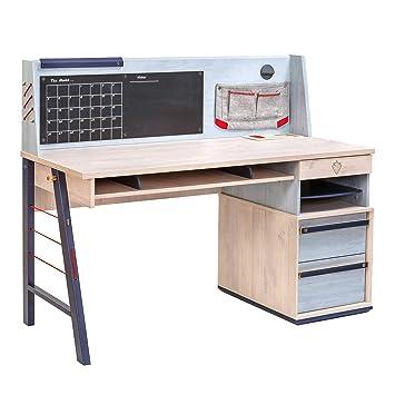 Amazon.com: Cilek 20.40.1101.10 Trio Wide Smart Desk ...