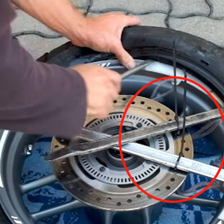 Anladia 4er Set 300 400 500 600 mm Reifen Montier-Hebel Hebel Reifenmontage Montagehebel Reifen wechseln Reifen-Eisen Montiereisen Reifen-Montiereisen-Set mit Tasche