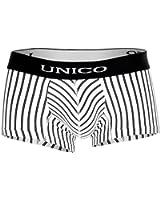 Mens Trunks Boxer Shorts - Black White Striped - Short Leg - Timon - Clasico