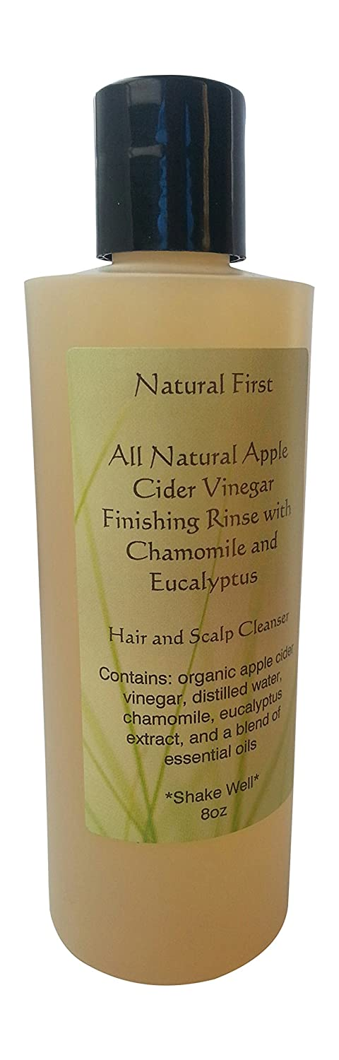 Natural First Organic Apple Cider Vinegar Finishing Rinse w/Chamomile & Eucalyptus 8oz