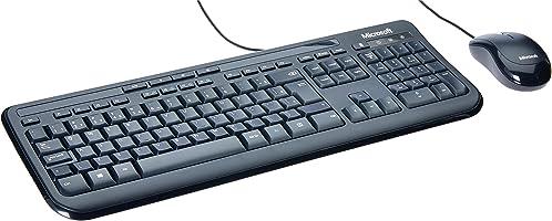 Microsoft Teclado E Mouse Com Fio Desktop 600 Usb Preto Bulk - 3J200006