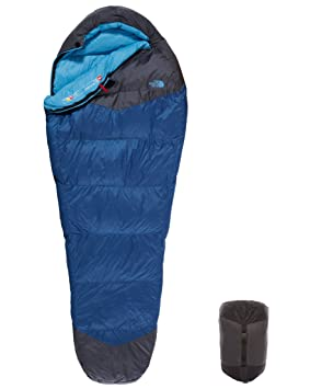 The North Face Blue Kazoo - Saco de dormir, color azul / gris, talla regular, cierre izquierdo: Amazon.es: Deportes y aire libre