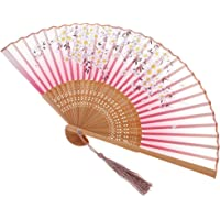 BAOBLADE Exquisite Chinese Style Bamboo Hand Fan Dance Fan for Beach Summer Accessory #4