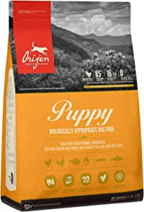 ORIJEN Puppy Dog Food, Grain Free, High Protein, Fresh and Raw Animal Ingredients
