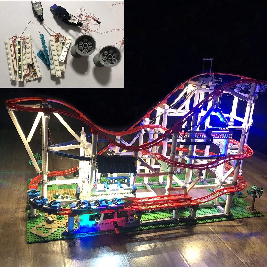 Polai Luces LED para Lego 10261 Montaña Rusa (Set Lego No Está ...