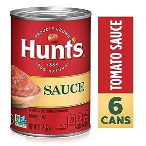 Hunt's Tomato Sauce, 15 oz, 6 Pack