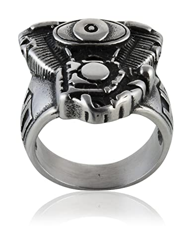 Buy V Twin Engine HD Harley Motorcycle Ring - Size: 10 0