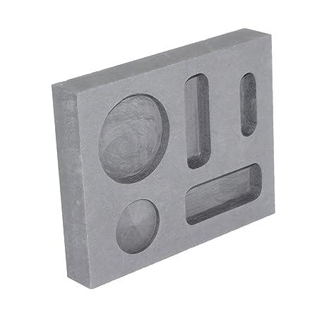 Pure grafito Ingot molde crisol Bar moneda Combo 1/4 oz 1/2 oz 1 oz de oro y plata de fusión de Aluminio Fundición Refining Metal Joyería: Amazon.es: Hogar