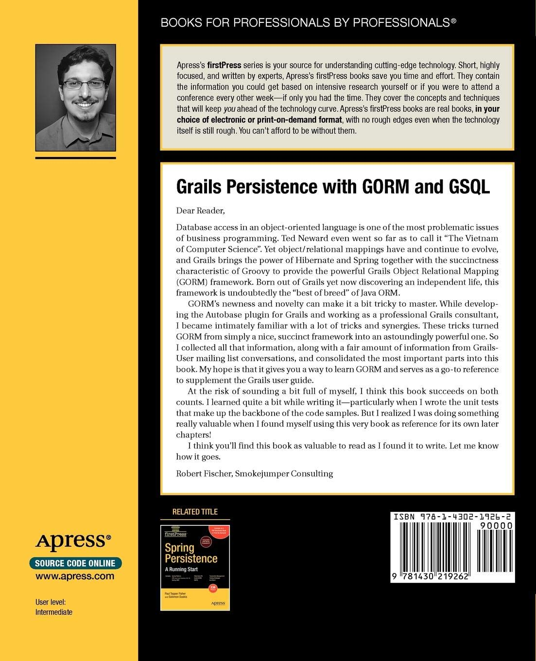 Grails Persistence with GORM and GSQL (FirstPress): Amazon in: Bobby