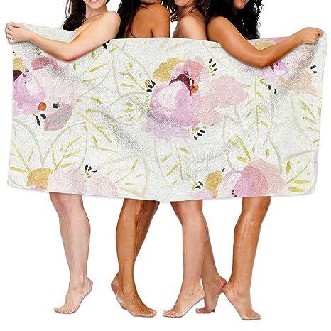 Floral – Funda unisex toalla de baño Wrap – microfibra Toallas de playa al aire libre