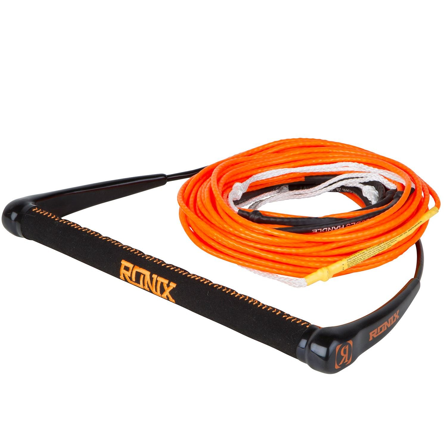Ronix Combo 5.0 Dyneema Bar Lock Hide Stitch Grip w 80' 6-Sect. R8 Rope (Assorted) Wakeboard Rope Handle