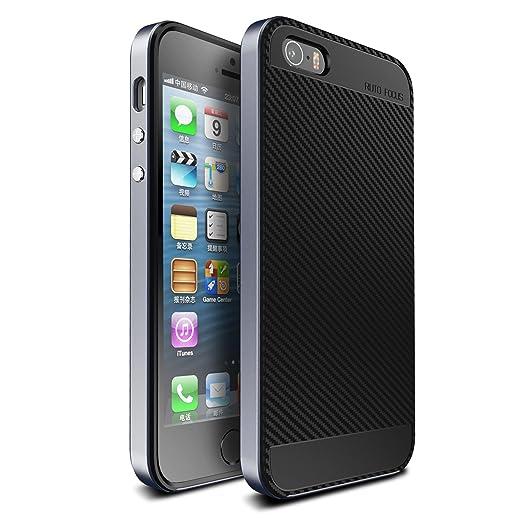 10 opinioni per Cover iPhone SE , ivencase [Stile Anti-Scratch] [Hybrid Silicone + Elegante PC