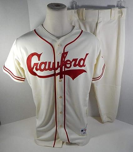 85fc400376c33 2018 Pittsburgh Crawfords Adam Frazier #26 Game Issued Cream Uniform ...