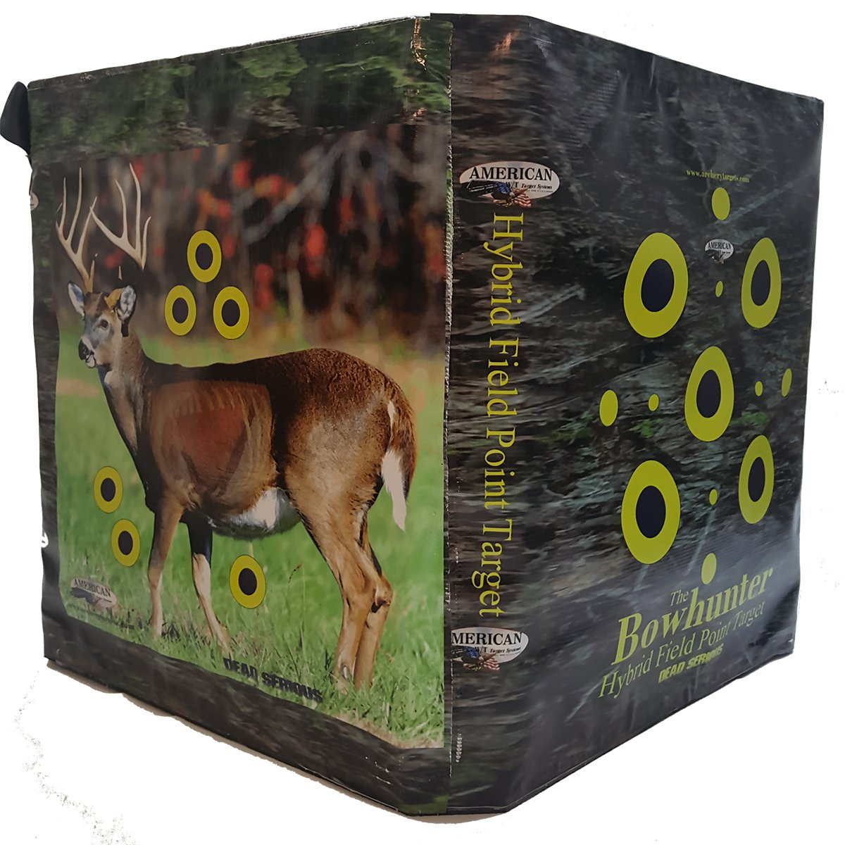 American Whitetail BowHunter Competition Cube Archery Target, Black