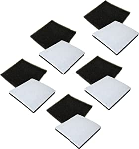 HQRP 10-Pack Foam Filter for Kenmore 116.21714/21714, 116.21514/21514, 116.21614/21614, 116.23613/23613 Canister Vacuum