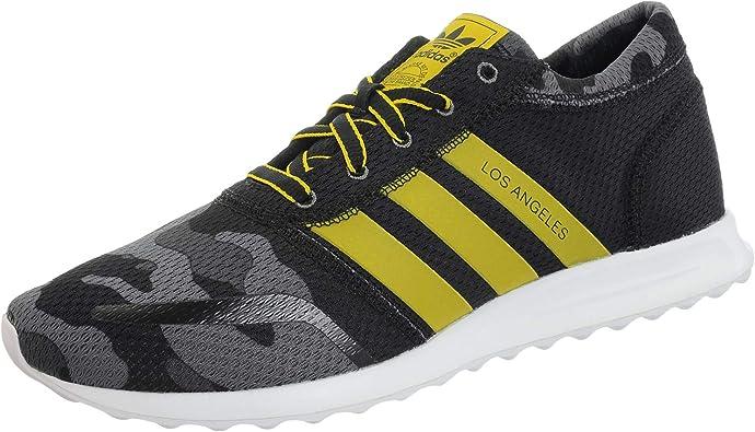 rescate tubo portátil  Zapatillas adidas – Los Angeles negro/amarillo/blanco talla: 40-2/3:  Amazon.es: Zapatos y complementos
