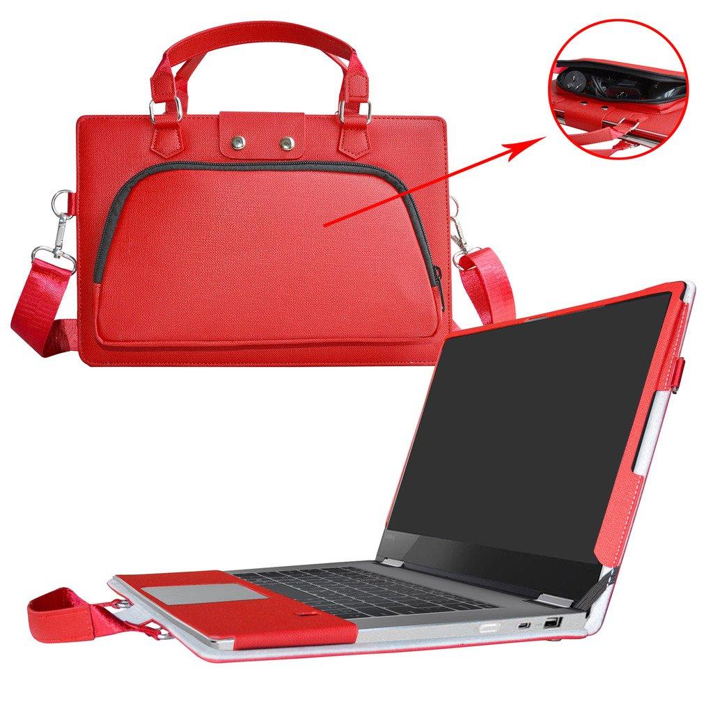 Sac Portable Sacoche pour 15.6 Lenovo Yoga 720 15 720-15IKB Ordinateur,Rouge Labanema Yoga 720 15 Housse,2 en 1 sp/écialement con/çu /Étui de Protection en Cuir PU