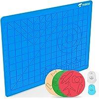 TECBOSS 3D Printing Pens Mat, 3D Pen Pad Silicone Template with Bonus 3 Patterns Mat 2 Finger Protectors - Tools for…