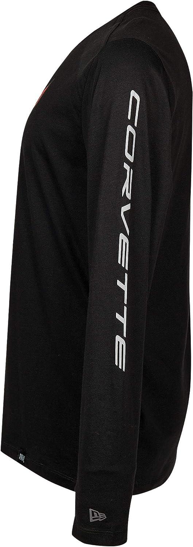 C8 Corvette Next Generation Carbon Flash Long Sleeve T-Shirt Black Small