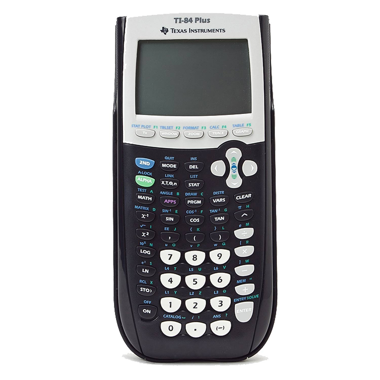 Black Texas Instruments Ti-84 plus Graphing calculator Renewed
