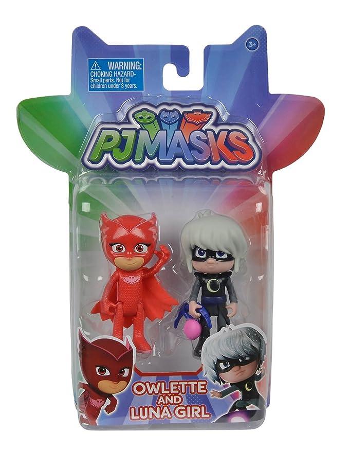 SIMBA 109402083 - PJ Máscaras Figuras Set, 2 Unidades: Amazon.es: Juguetes y juegos