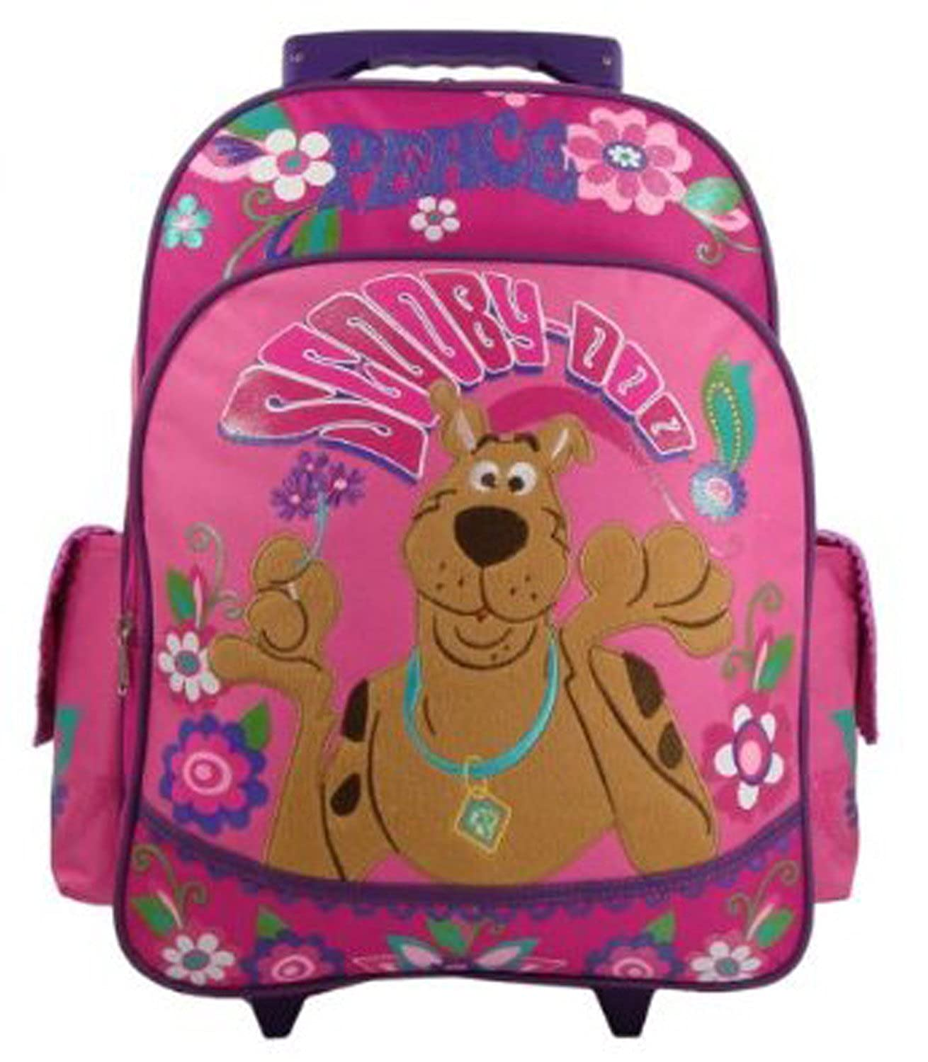 scooby doo peace love large 15 rolling backpack