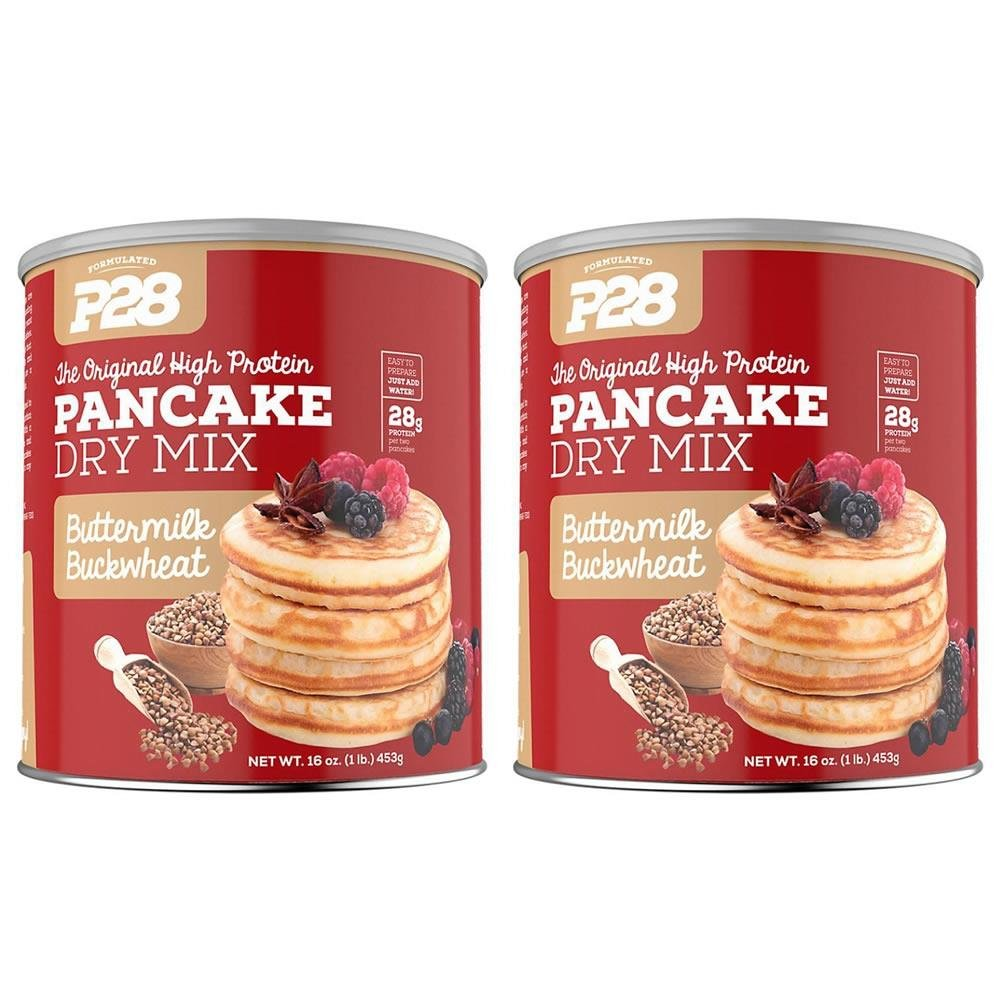 P28 Foods High Protein Pancake Dry Mix Buttermilk Buckwheat -- (2 Pack of 16 oz) by P28 Foods