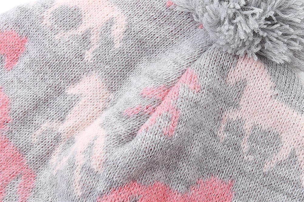 AHAHA Gorro Ni/ña Invierno Pompom para ni/ñas Sombreros de Invierno Earflap