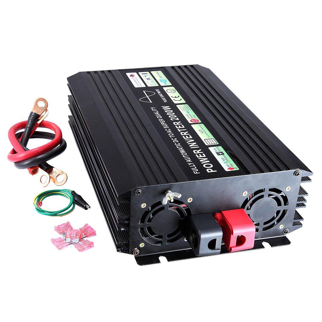 Lensun 2500 Watt DC-AC-reiner Sinus-Wellen-Energien-Inverter, DC 12V, 220 V Oder 230 V AC