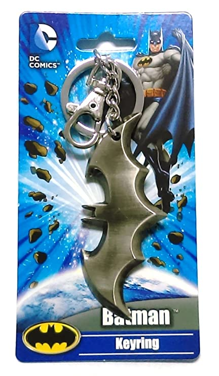 DC Comics Batman Logo Weapon Pewter Key Ring
