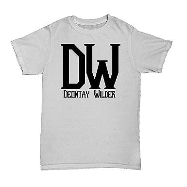 c0abf5e8a14c RoyalTeesUK Mens T Shirt Deontay Wilder Boxing (Ash Grey and Black, S)