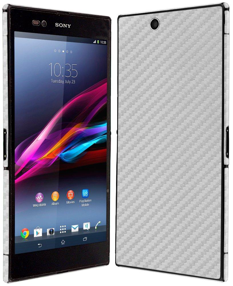 Skinomi Carbon Fiber Silver Skin+Screen Protector for Sony Xperia Z2 Tablet