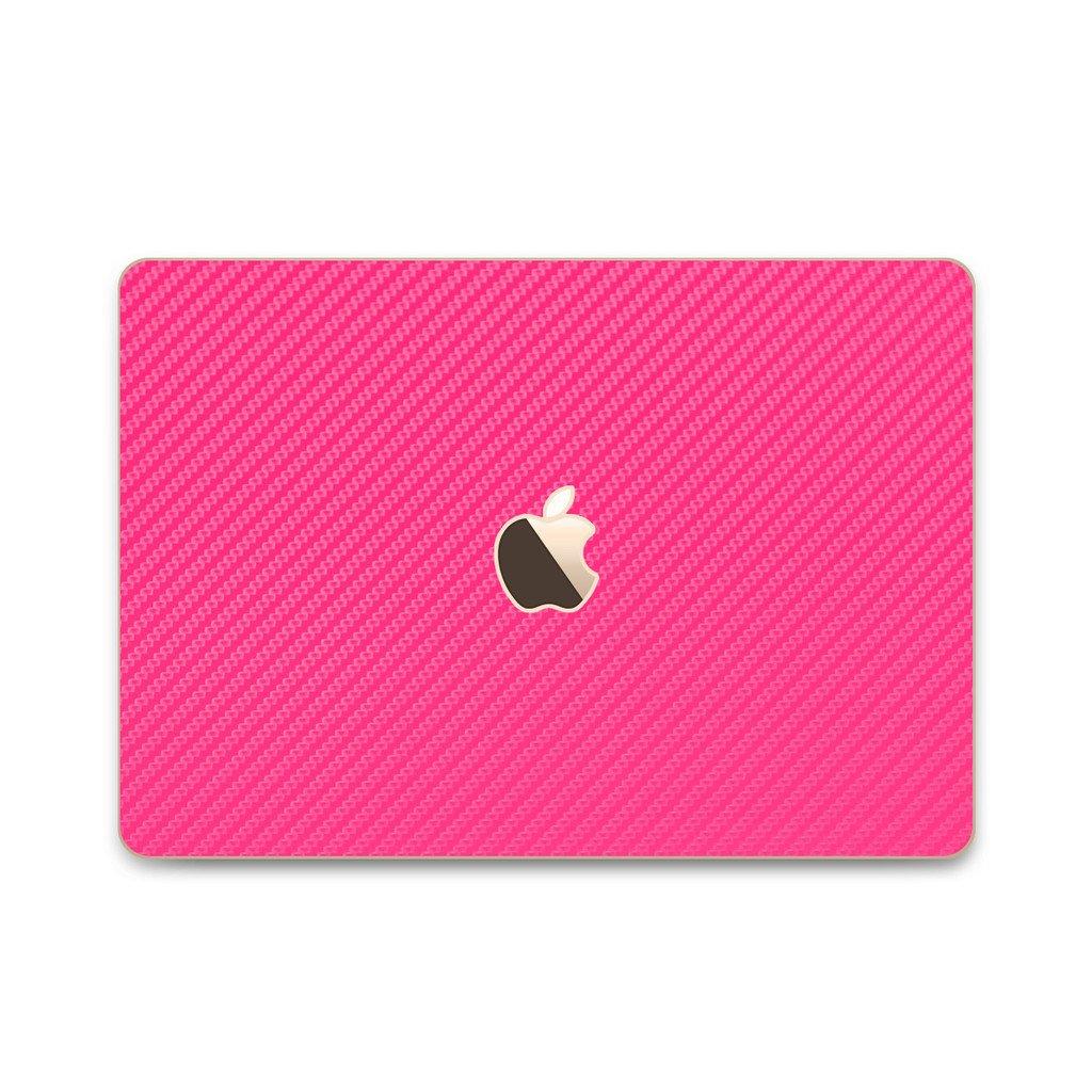 iCarbons Pink Carbon Fiber Vinyl Skin for MacBook 12'' Retina (Early 2015-Current) Full Combo